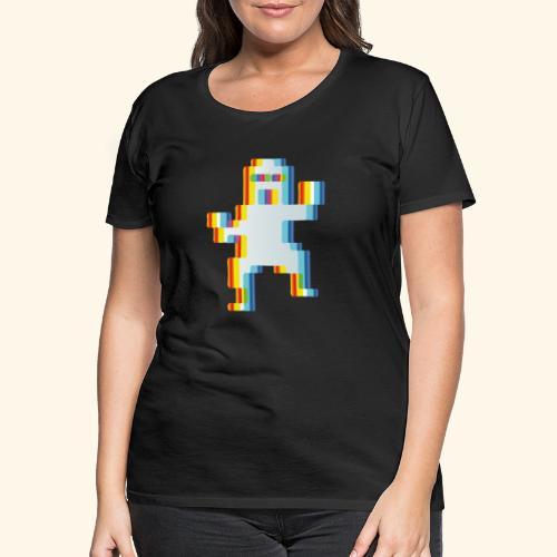 80's party glitch - Women's Premium T-Shirt
