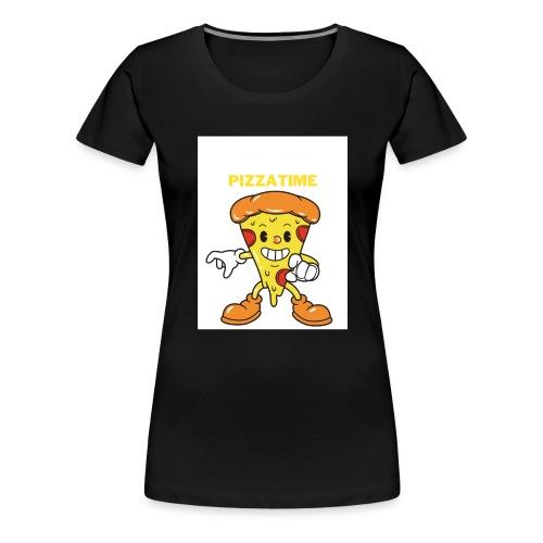 Ich liebe pizza - Frauen Premium T-Shirt