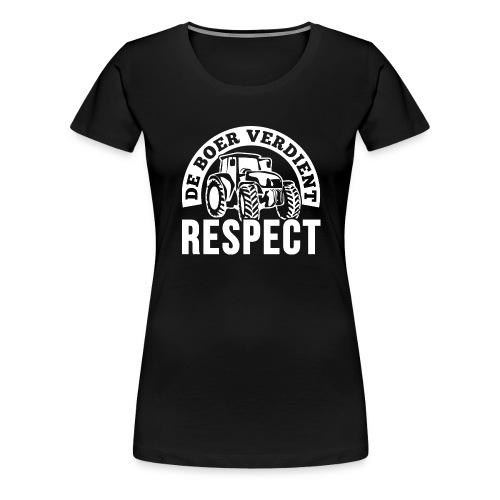 LOGO WIT DeBoerVerdientRe - Vrouwen Premium T-shirt