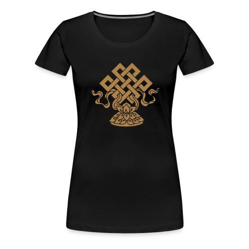 Endlosknoten, Buddhistisches Glückssymbol, Lotus - Frauen Premium T-Shirt