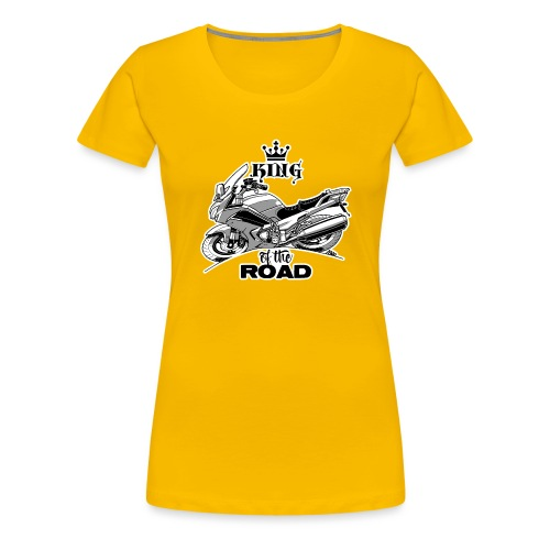 0883 FJR KING of the ROAD - Vrouwen Premium T-shirt