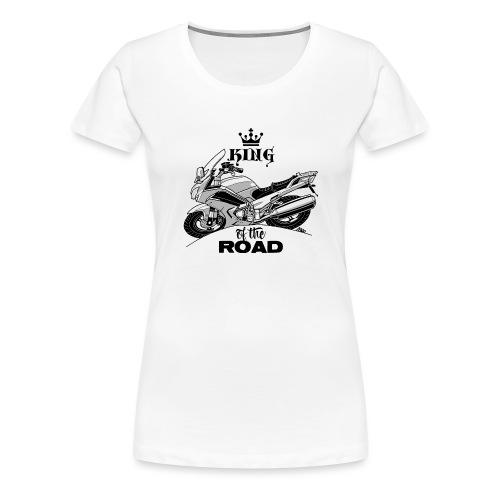 0884 FJR KING of the ROAD - Vrouwen Premium T-shirt