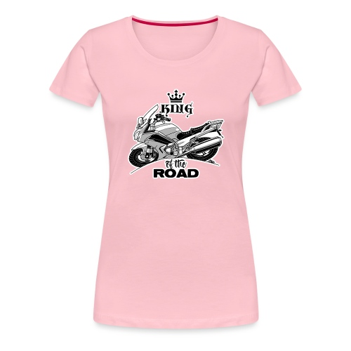 0884 FJR KING of the ROAD - Vrouwen Premium T-shirt