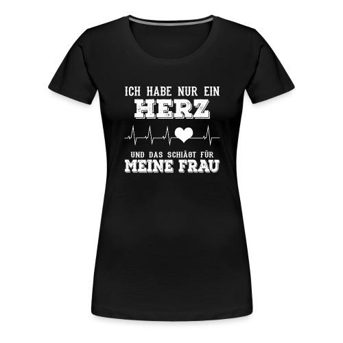 Herz Frau - Frauen Premium T-Shirt