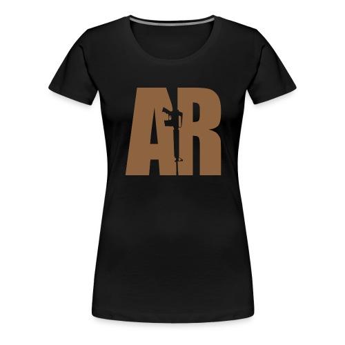 AR15 BEIGE - Women's Premium T-Shirt