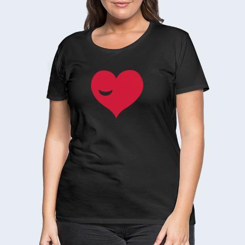 Winky Heart - Vrouwen Premium T-shirt
