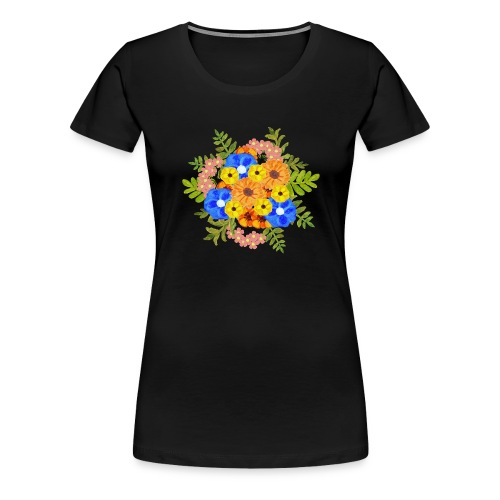 Blue Flower Arragement - Women's Premium T-Shirt