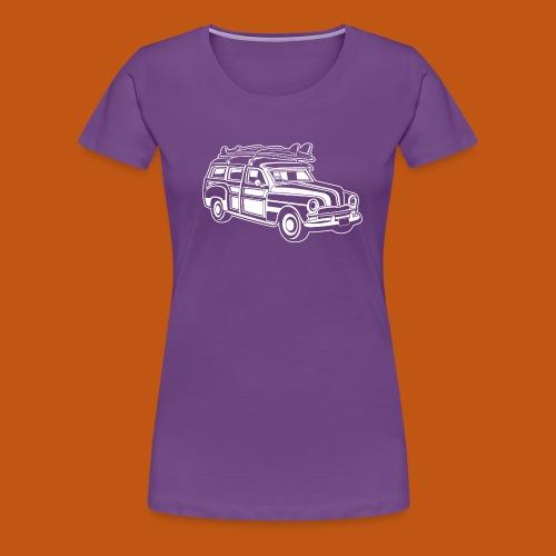 Chevy Cadilac Woodie / Oldtimer Kombi 01_weiß - Frauen Premium T-Shirt
