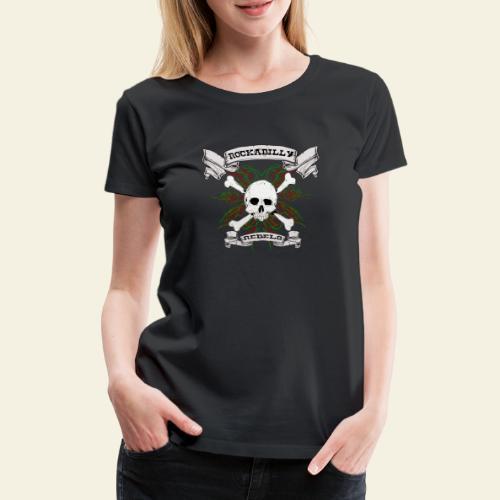 skull back - Dame premium T-shirt