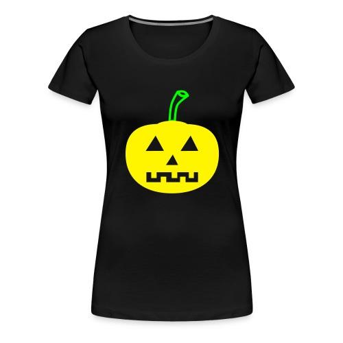 Halloween-Kürbis zweifarbig - Frauen Premium T-Shirt