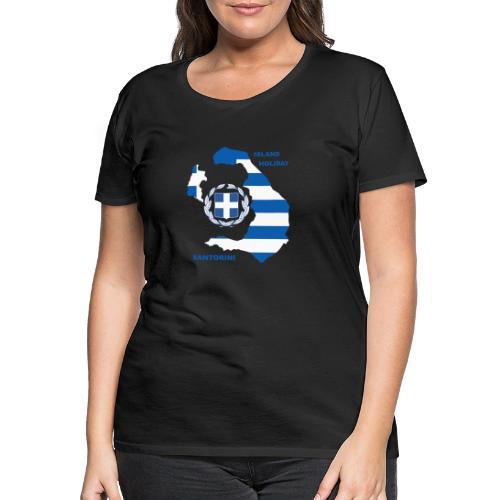 Santorini Island Holiday - Frauen Premium T-Shirt