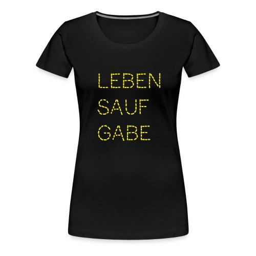 Lebensaufgabe - Frauen Premium T-Shirt