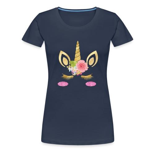 unicorn face - Frauen Premium T-Shirt