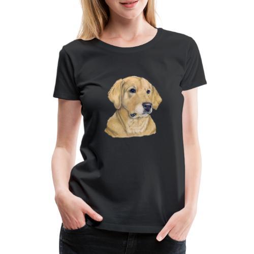 labrador yellow - pastel - Dame premium T-shirt