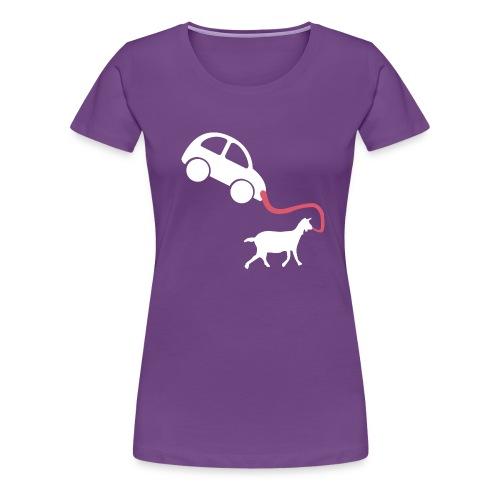 Walk the car - Women's Premium T-Shirt