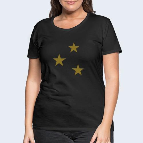 3 Stars - Vrouwen Premium T-shirt