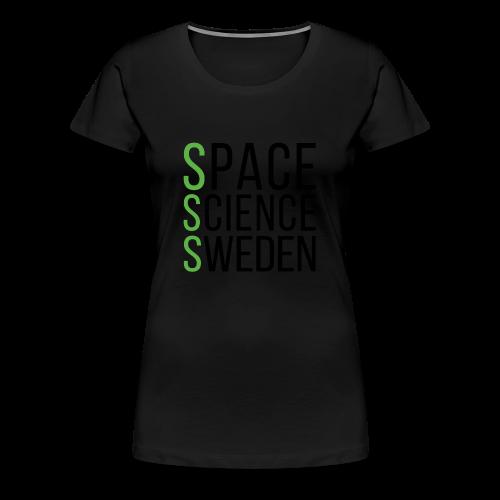 Space Science Sweden - svart - Premium-T-shirt dam