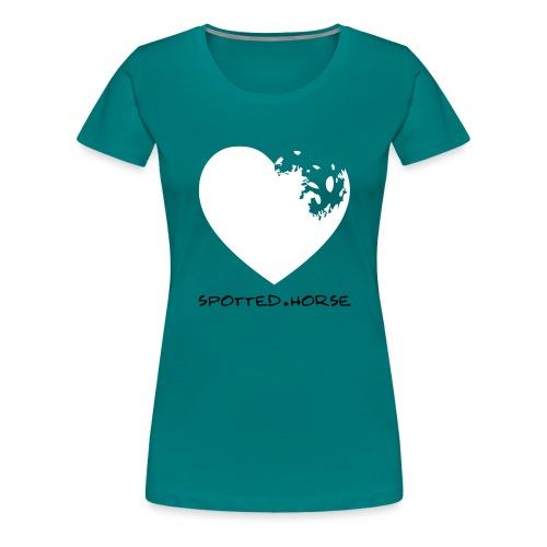 Cuore Appaloosa (bianco/rosso) - Maglietta Premium da donna