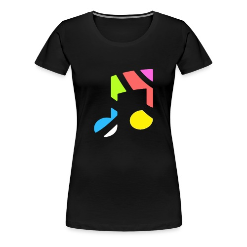 CurveRadioLogoWhite - Women's Premium T-Shirt