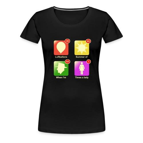 Muziek apps - Vrouwen Premium T-shirt