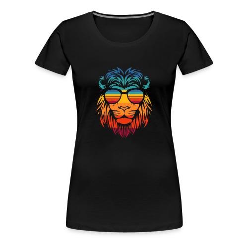 Retro Lion - Vrouwen Premium T-shirt