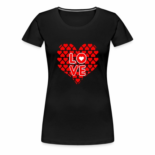 Liebe Valentienstag - Frauen Premium T-Shirt