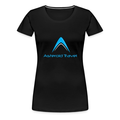 Asteroid Travel Logo - Premium T-skjorte for kvinner
