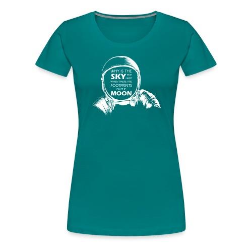 Astronaut - Footprints on the Moon - Frauen Premium T-Shirt