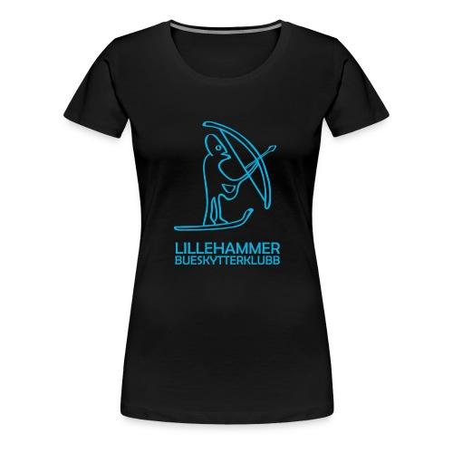 lbsk logo kvadrat blaa outline png - Premium T-skjorte for kvinner