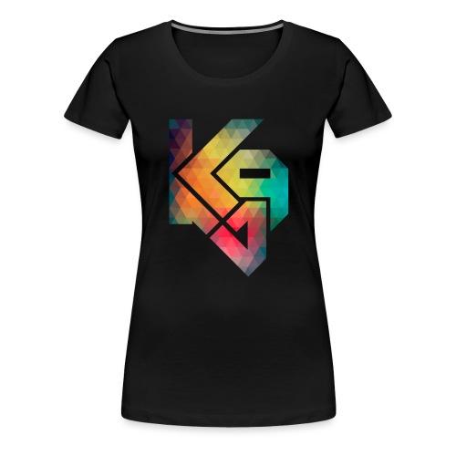 K94 logo rainbow - Women's Premium T-Shirt