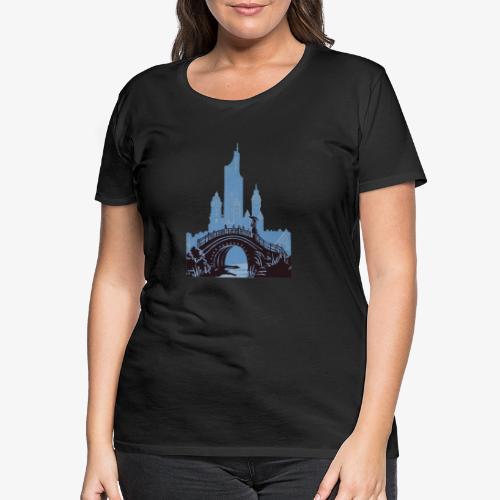 Streetart Brücke Frau - Frauen Premium T-Shirt