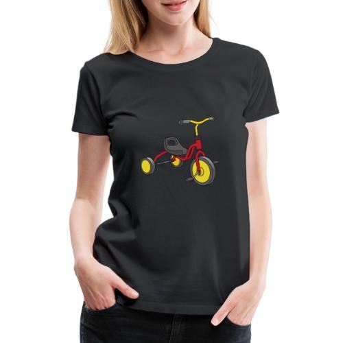 Rot-gelbes Kinderdreirad - Frauen Premium T-Shirt