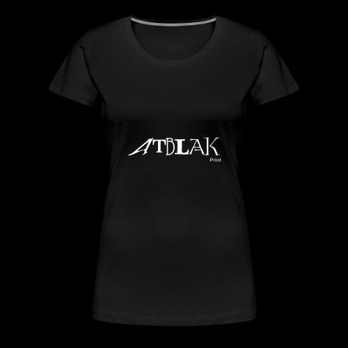 Logo blanc contour noir - T-shirt Premium Femme