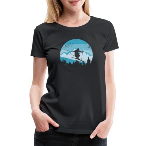 Skifahren - Frauen Premium T-Shirt