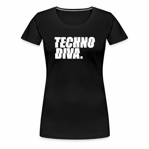 Techno DlVA Rave Princess Hard Techno Kind Music - Frauen Premium T-Shirt