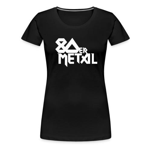 80er metal edit - Frauen Premium T-Shirt