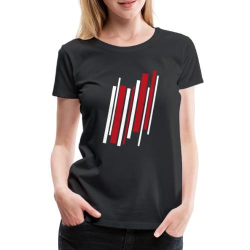Red-White-Lines - Frauen Premium T-Shirt