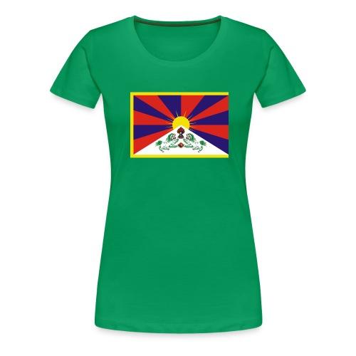 tibetflag - Frauen Premium T-Shirt