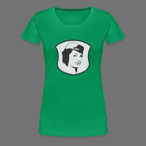 Lentoemäntä Lentoemäntä (oldstyle) - Naisten premium t-paita