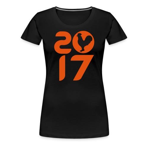2017 coq feu - Women's Premium T-Shirt