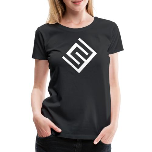 ChrisWhippit Logo Vit - Premium-T-shirt dam