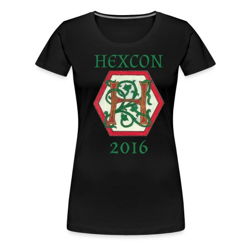 stor_h_gronn_tekst - Premium T-skjorte for kvinner