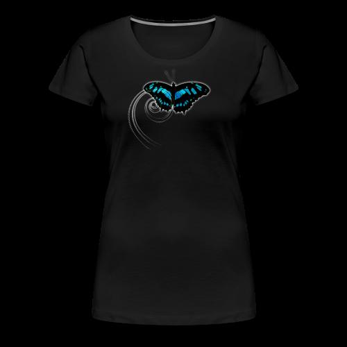 Schmetterling blau - Frauen Premium T-Shirt