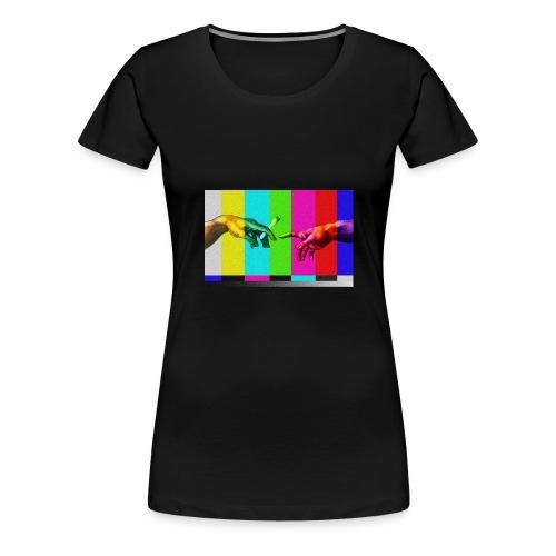 """Dzieło """"Stworzenie Adama"""" - Koszulka damska Premium"""