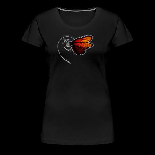 Schmetterling orange - Frauen Premium T-Shirt