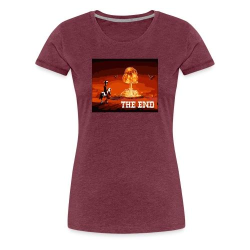 THE END (version 2 : pour toute couleur de fond) - T-shirt Premium Femme