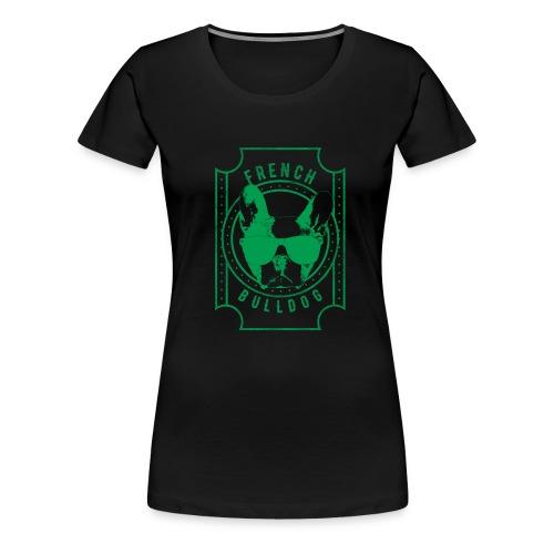 Franse Bulldog groen - Vrouwen Premium T-shirt