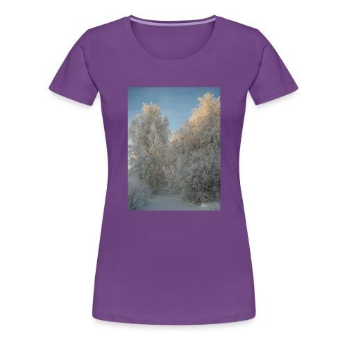 Talviset puut - Naisten premium t-paita