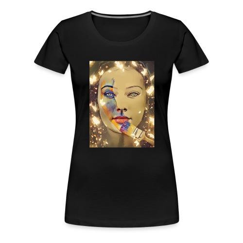 Gesicht Gemälde - Frauen Premium T-Shirt
