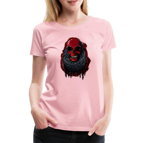 Red Skull in Chains - Women's Premium T-Shirt